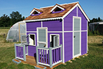 Purple playhouse with all the goodies