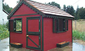 Barn red playhouse