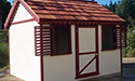 Simple and beautiful playhouse painted to match the house